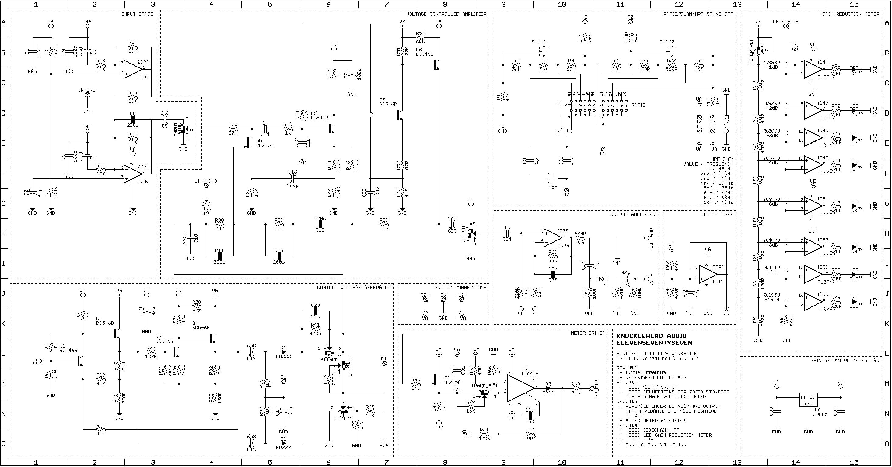 Stripped Down Transformerless 1176 Workalike Project Opamp Audio Mixer Circuit Diagram With Ne5532 Working Schematic In Progress